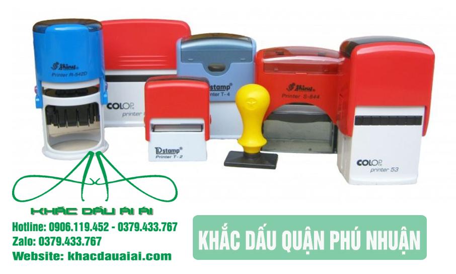 Dịch vụ khắc dấu quận Phú Nhuận theo yêu cầu giá rẻ, nhanh chóng